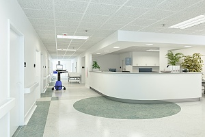 nursing home building lobby in new york city that meets legionella regulations