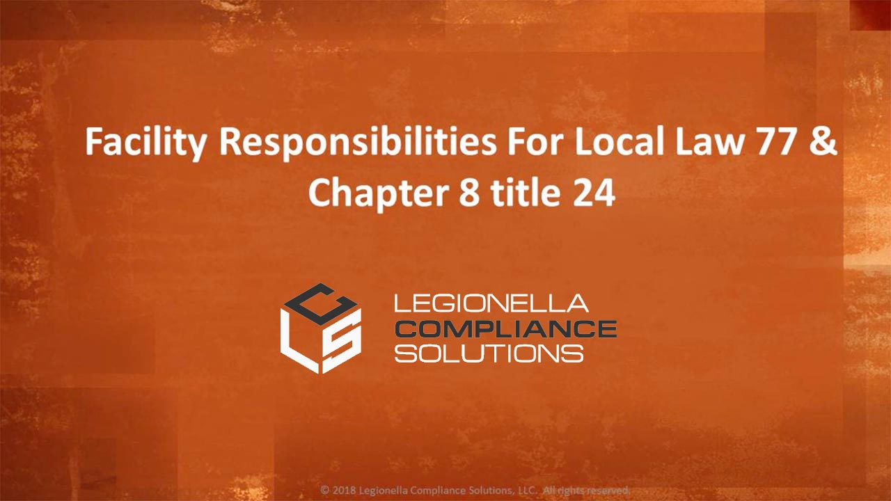 Facility Responsibilities For Local Law 77