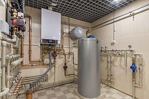 hot water tank in basement