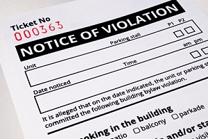 notice of violation for buildings