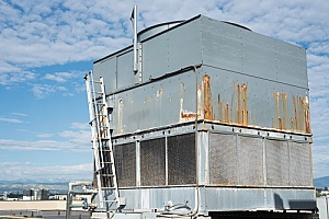 older cooling tower that needs to be decommissioned