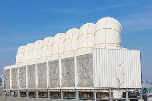 Air cooling tower for HVAC. Cooling towers could harbor Legionella