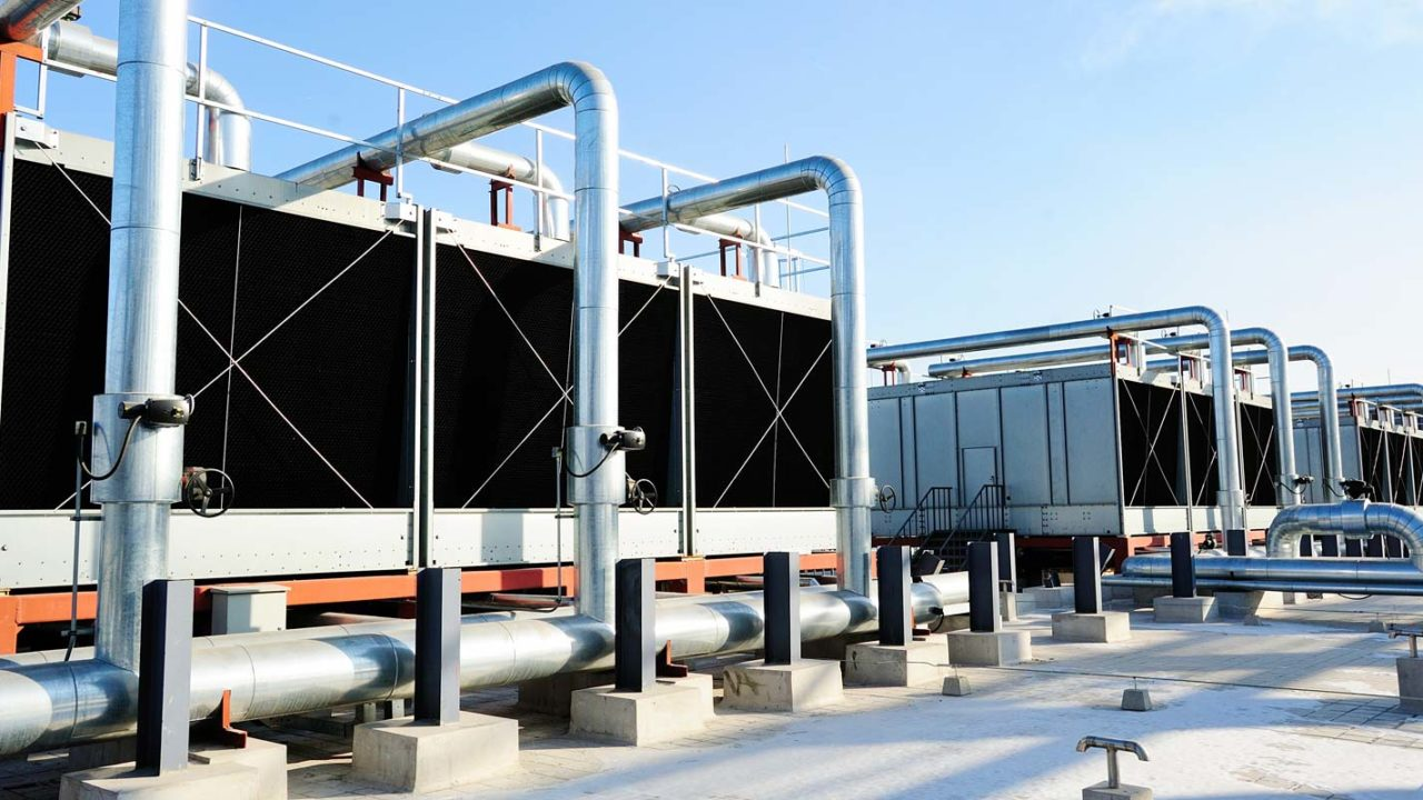 a cooling tower that is receiving a legionella risk assessment