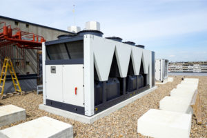 machine on the roof is routinely checked for rust or defects as an ongoing legionella prevention plan