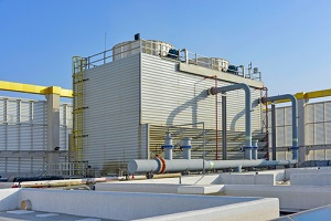 exterior shot of district cooling plant
