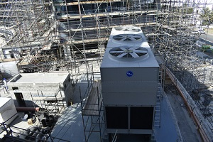 cooling tower for air conditioning system in compliance with local law 77