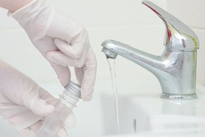 water analysis quality control concept