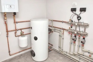 well installed hot water system